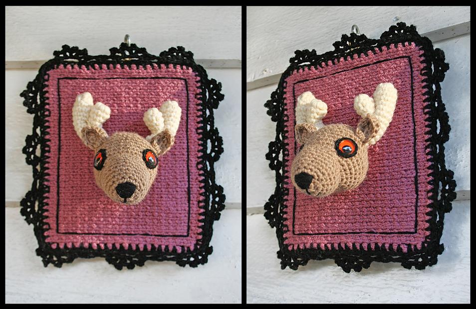 Crochet Pattern For 18 Inch Doll Shoes : Curiosity Cabinet of XnPurPLe: Amigurumi Deer Head
