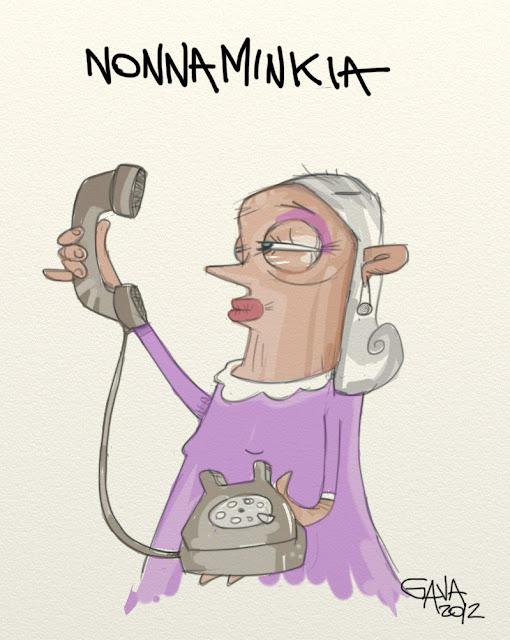 Gava satira vignette anziani smartphone fotografia bimbominkia