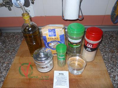 Ingredientes para la Torta de pan de ajo.