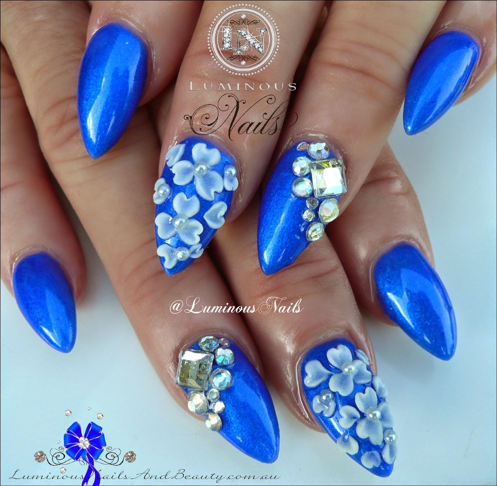 Blue Gel Nail Art Designs ~ Nail art gel blu pictures to pin on