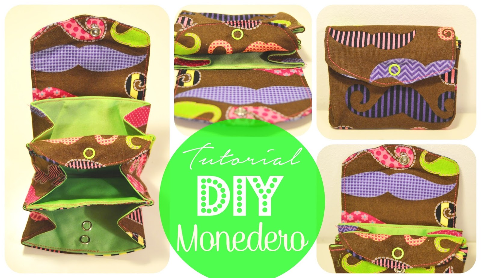 diy tutorial paso a paso monedero