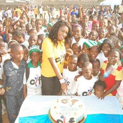 Heart of Gold- Chika Ike gives back to society(Photos)