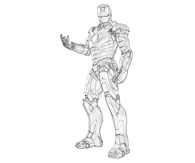 Printable Iron Man 2 Armored Coloring Pages