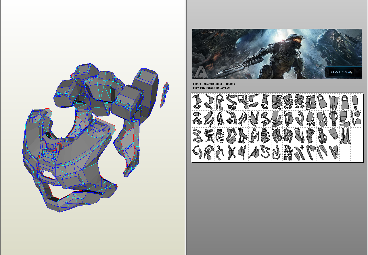AZTLAN: Armadura Master Chief - Halo 4