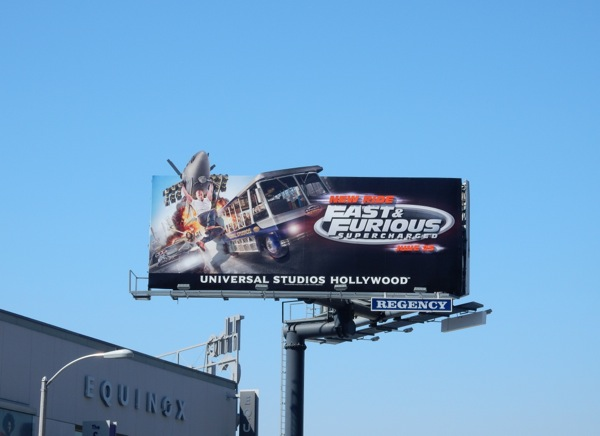 Fast and Furious Supercharged ride billboard