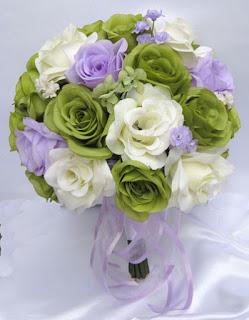 結婚都好少用綠色為主的花球呀?