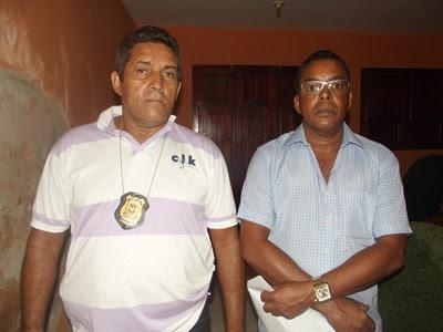Os comissários Zé Carlos e Ronaldo Firmo foram os responsáveis pelo rápido esclarecimento do crime.