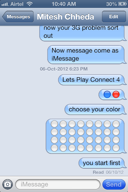Play Connect 4 with iPhone iPad using iMessage