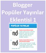 Blogger Popüler Yayınlar Eklentisi 1