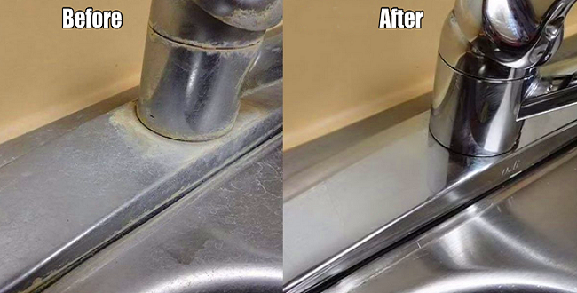 Clean Hard Water Stains In Kitchen Sink