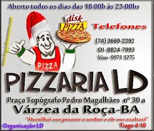Pizzaria LD em Várzea da Roça é sua opção Disk Pizza