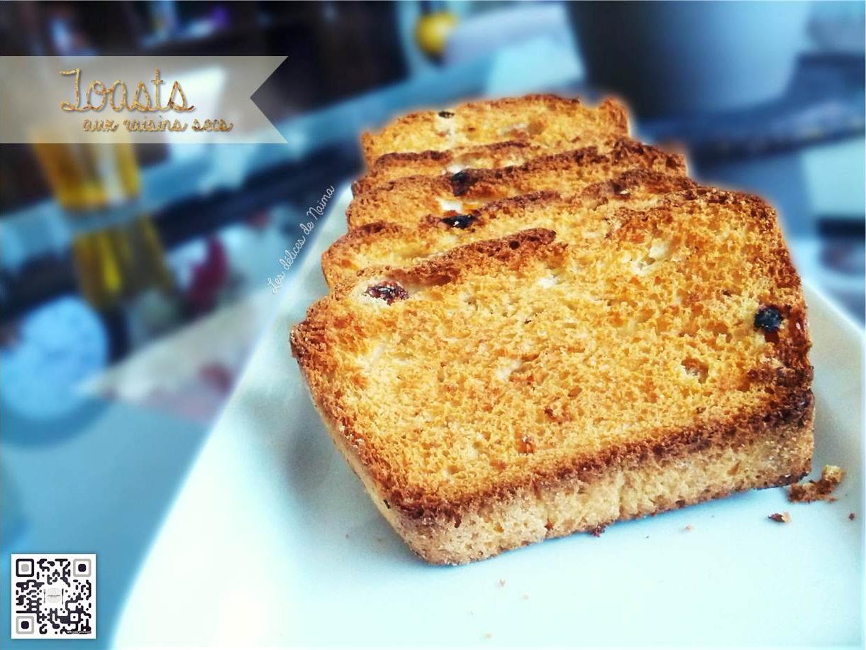 Toasts aux raisins secs