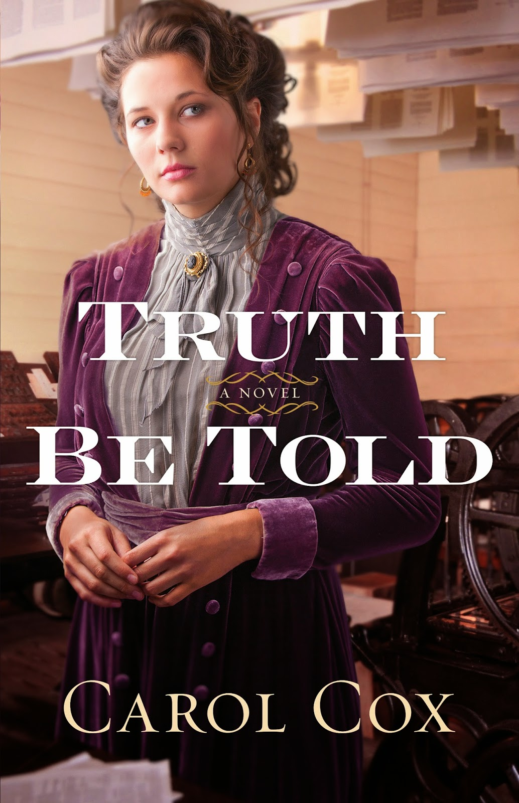 book review of Truth Be Told by Carol Cox (Bethany House) by papertapepins