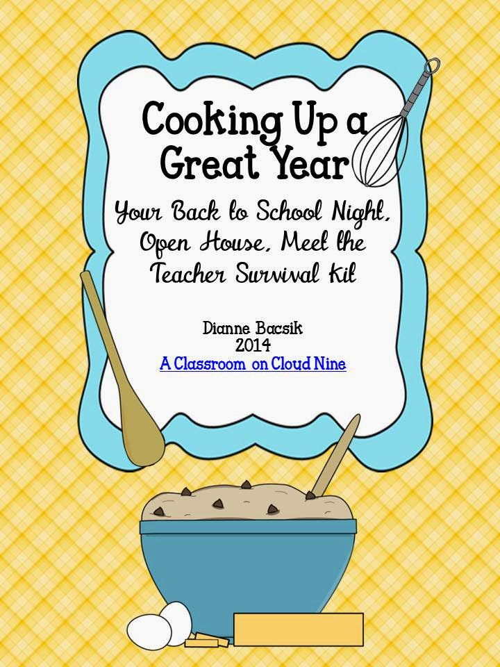http://www.teacherspayteachers.com/Product/Cooking-Up-A-Great-Year-Your-Back-to-School-Night-Survival-Kit-Editable-1390852