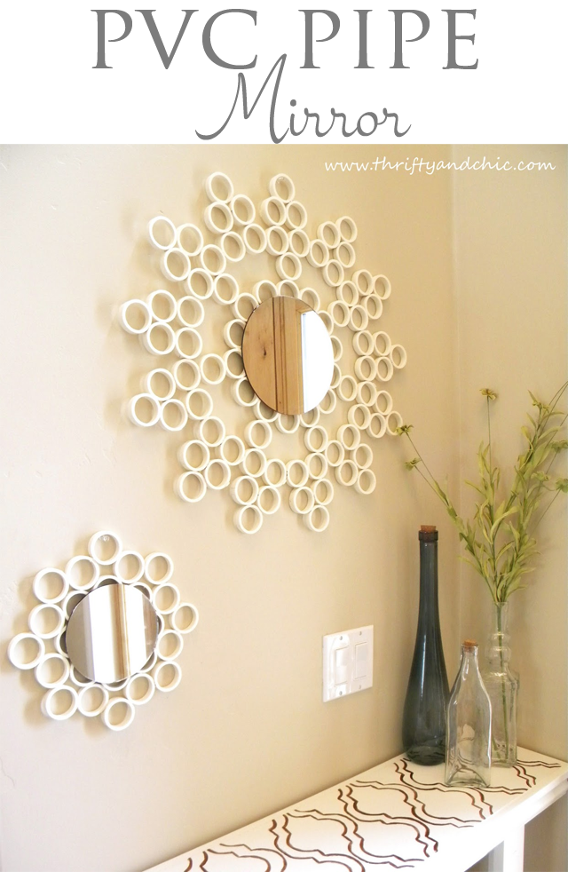 http://www.thriftyandchic.com/2011/03/pvc-pipe-mirror.html