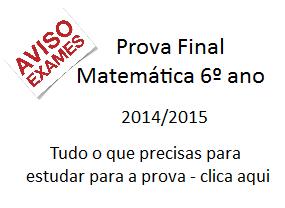 Prova Final Matemática 6º ano