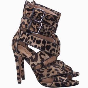 Luiza Barcelos sandália salto alto pelo leopardo com fivela coleção inverno 2014