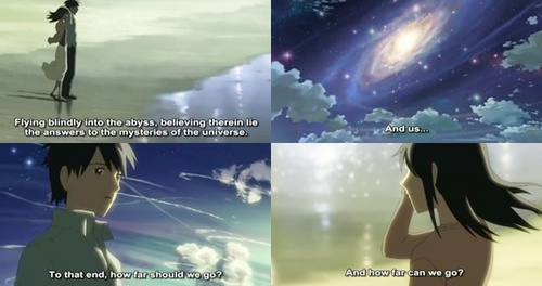 fact and fiction 5 centimeters per second anime