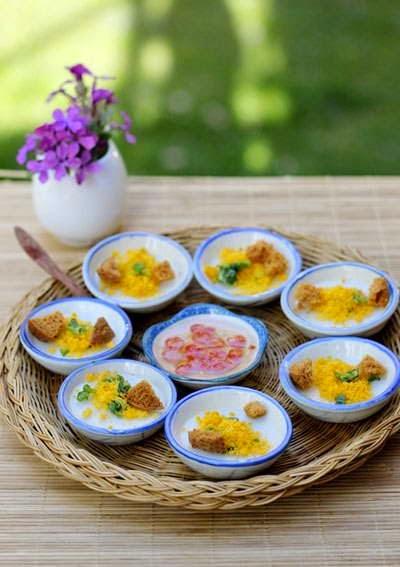 Vietnamese Recipes Vegetarian - Bánh Bèo Chén Chay
