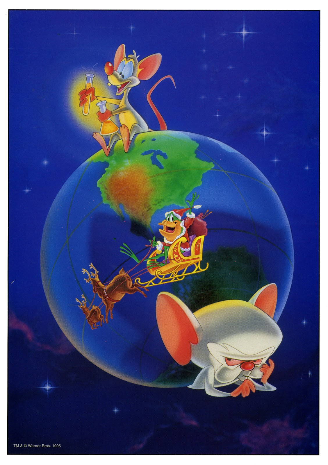 Cartoonatics: Pinky and the Brain Christmas Card