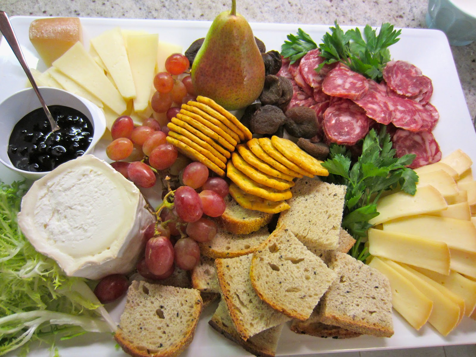 French Cheese and Charcuterie Plate Part 1 Photo NK & Neurotic Kitchen : Easter Hors Du0027Oeuvres - French Cheese ...