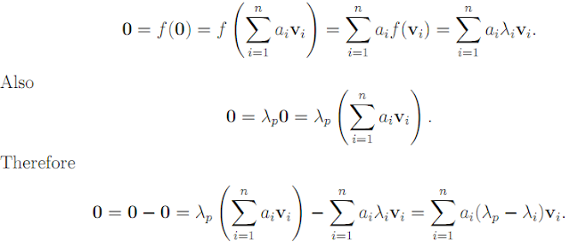 Linear Algebra: #11 Eigenvalues, Eigenspaces, Matrices which can be Diagonalized equation pic 3