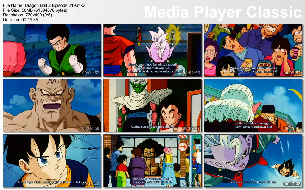 Download Film / Anime Dragon Ball Z Majin Buu Saga Episode 219 Bahasa