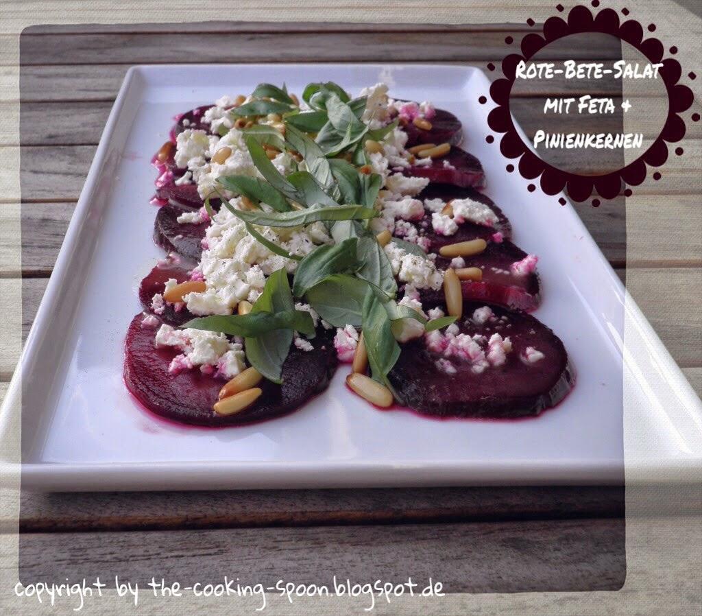 the cooking spoon rote bete salat mit feta pinienkerne. Black Bedroom Furniture Sets. Home Design Ideas