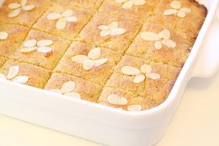 plat gratin blanc gâteau semoule amandes