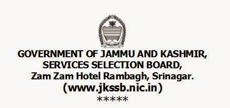 JKSSB 2014 Recruitement www.jkssb.nic.in 838 various posts