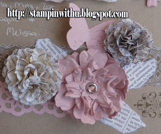 Shabby Chic Flower Embellishments Close Up
