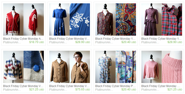 etsy vintage clothing on platinumandrust.etsy.com