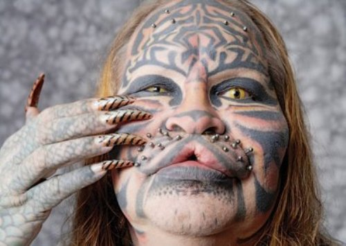 gone wrong tribal tattoos Wrong Turn this Plastic wey Surgery Surgery People Go into, Plastic