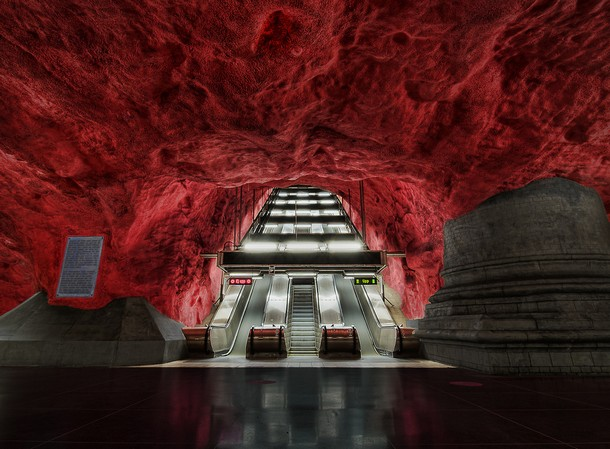 The subway in Stockholm, Sweden