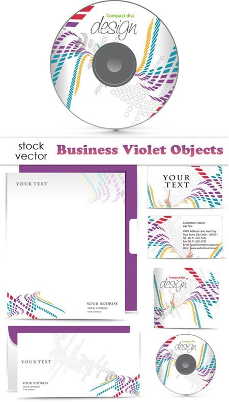 Vectors - Business Violet Objects