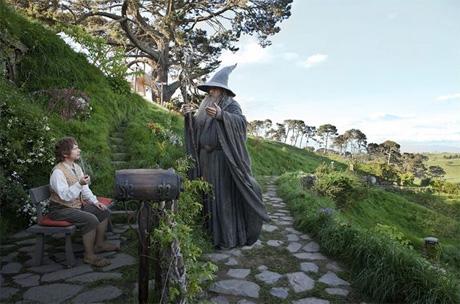"""review """"El Hobbit:  Un viaje inesperado"""" - Bilbo y Gandalf"""