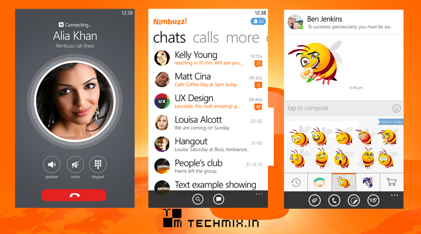 nimbuzz messenger windows phone techmix