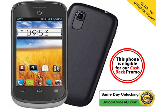 Factory Unlock Code for ZTE Avail 2