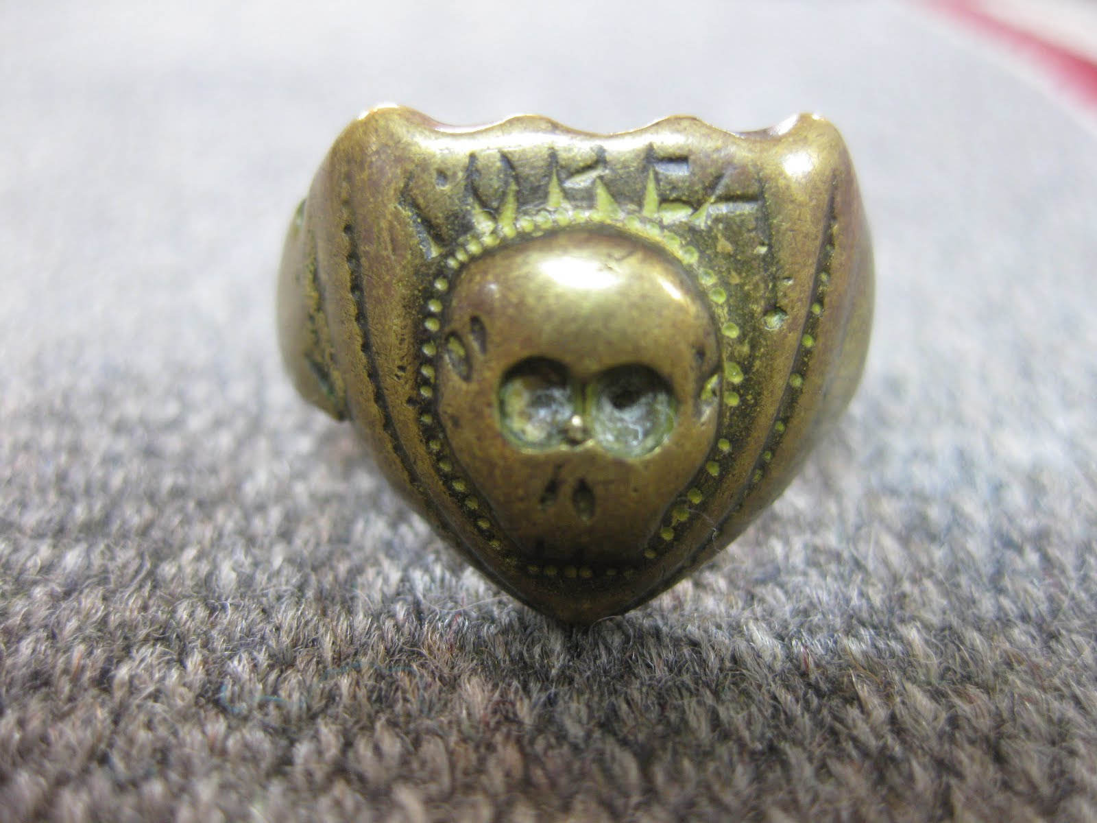 around 50's                  「SKULL」               BRASS RING