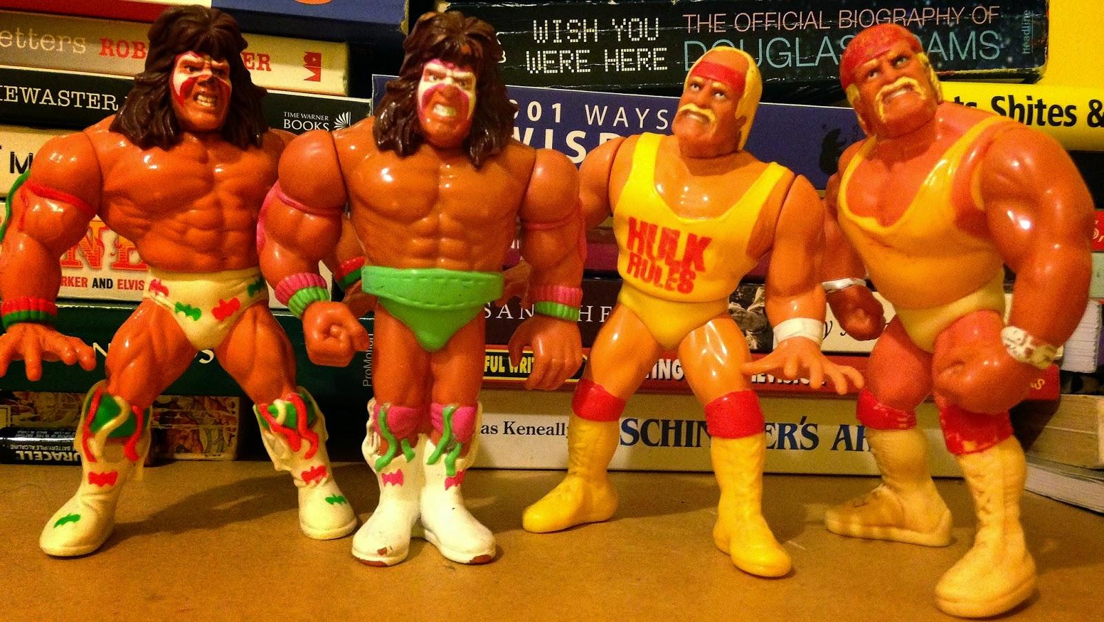 WWF / WWE - Hasbro Wrestling Figures - 1990-1991: Hulk Hogan vs. Ultimate Warrior - two versions
