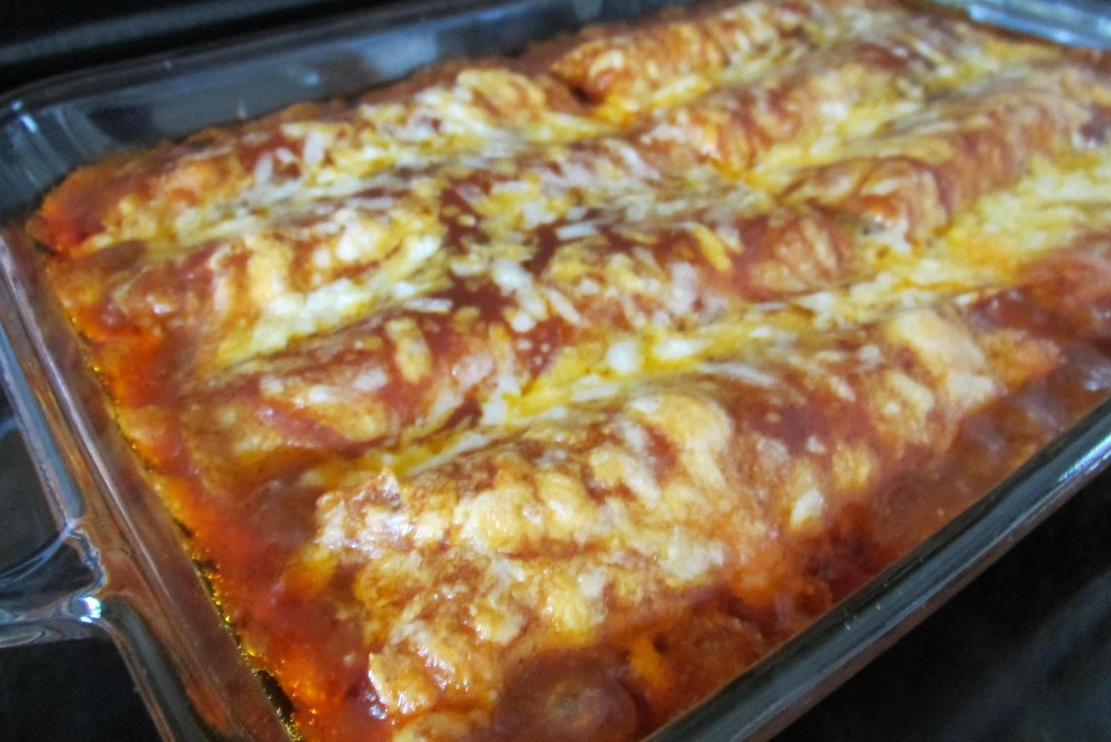 Gluten-Free Red Chili Enchiladas (w/ homemadesauce)