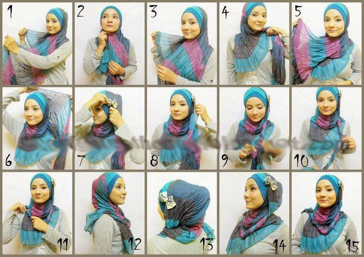 Cara Memakai Jilbab Pashmina 3