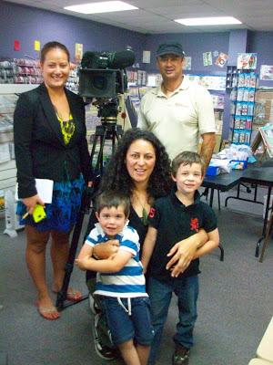Irena, tv camera, Pat, Bronson, me, Xavier