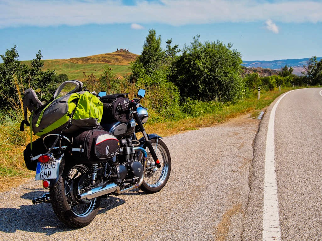La toscana en moto