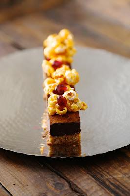 ganache chocolat,dessert festif, noel, sablé, pop corn