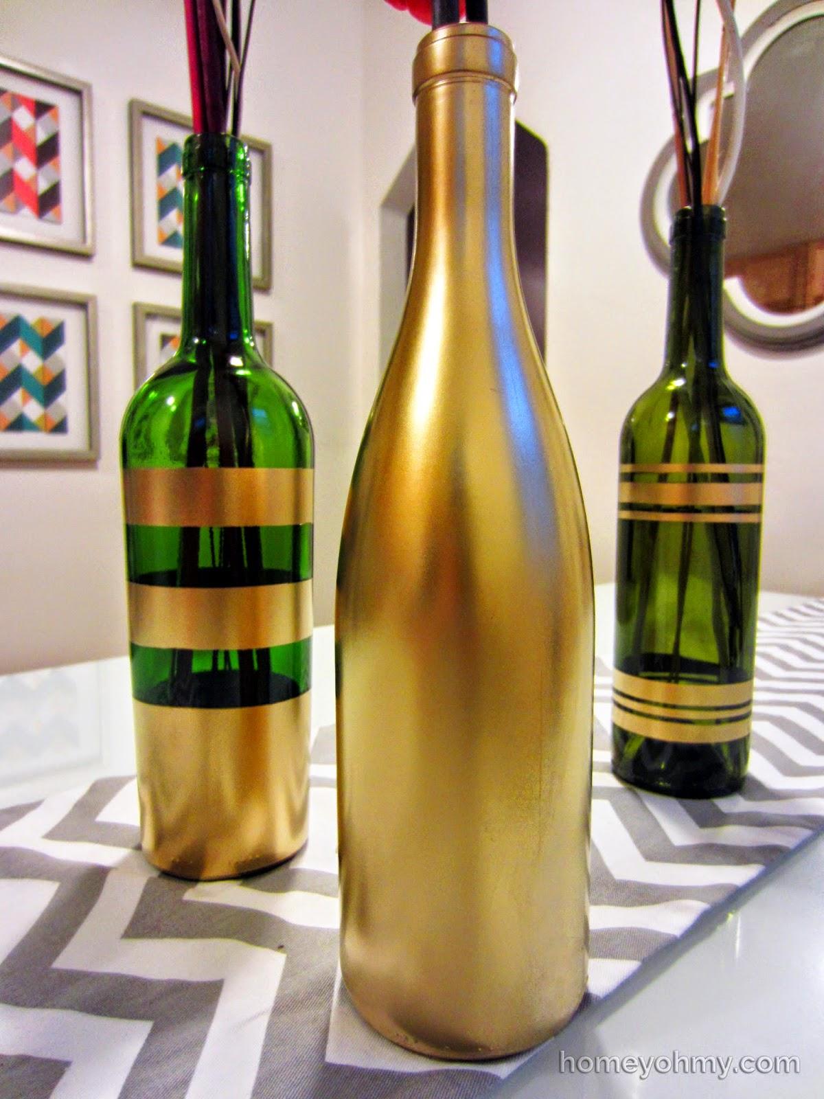 garrafas pintadas reciclagem