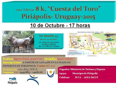 8k Cuesta del Toro (Piriápolis, 10/oct/2015)