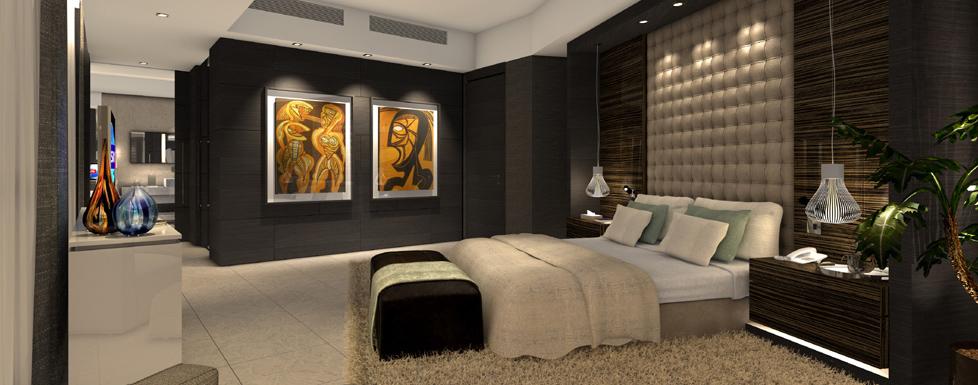 Residence Design Inspireras av snyggt sovrum