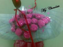 Jambangan Bunga Rose Coklat