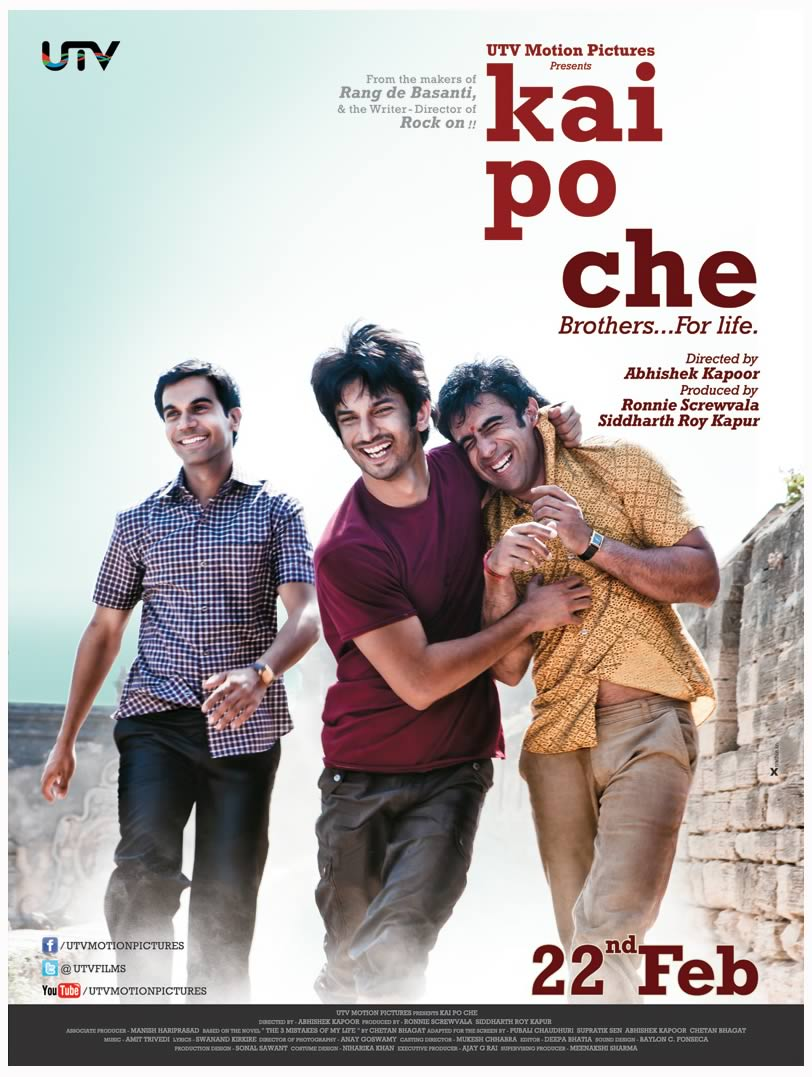 Kai Po Che - First look poster
